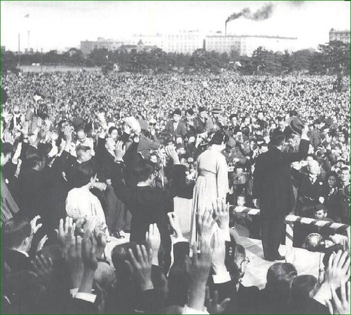 日本国憲法公布記念祝賀 宮城前 天皇皇后両陛下