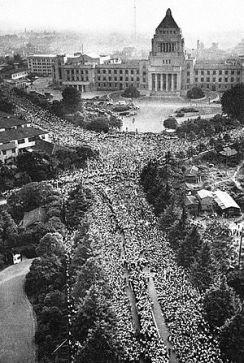 60年安保闘争 国会前
