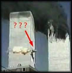 911 WTC Twintower plane flies through