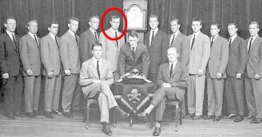 1948年「スカル&ボーンズ」赤丸内ジョージ・H・W・ブッシュ